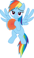 Rainbow Dash and her balloon. by RobbertKangaroo