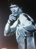 stencil bruce lee multilayer by sisma21
