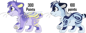 Fairy and Slug Sabertooth Adopts by MBPanther