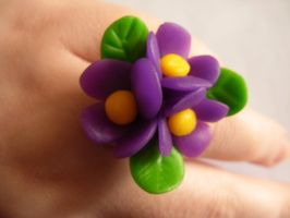 Flower ring by InfernalTear