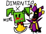Dimentio X Mimi by AjTheDragon