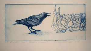 Crows in shade of blue by Feriluc