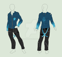 Custom Outfit - Blue Punk by ShadowInkAdopts