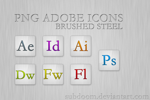 Adobe Brushed steel icons by SubDooM