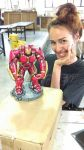 Me and my  Cold Porcelain Hulkbuster Sculpture by DivineBurns