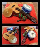musicians marriage cake by Shoshannah84