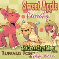Sweet Apple Family - TheGrassSaysMooo by Nattsu-San