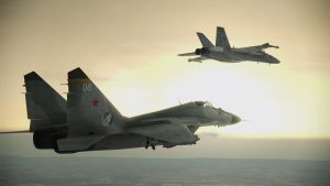 Fighters at Sunset by BillyM12345