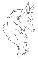 Wolf Bust Lines by jaclynonacloudlines
