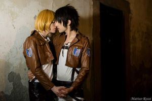 Eren x Armin, Shingeki no Kyojin Cosplay by hakucosplay