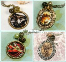 Art Cameo Necklaces 2 by helloheath