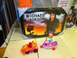 Cheap-ass knockoff toys that sample MJ's Beat It! by ryanthescooterguy