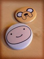 Finn and Jake Pinback Buttons by Monostache
