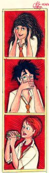 HP: The Golden Trio by seanfarislover