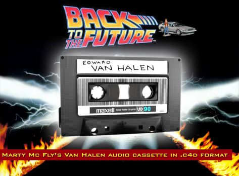 Marty Mc Fly's Van Halen audio cassette 3D model by staiff