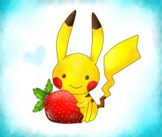 pika with strawberry by beng-beng-chan