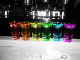 rainbow shots by LilRockar