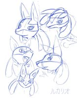 Lucario Faces by sonicolas