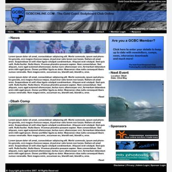 GCBC Website by TriverseDesigns
