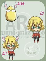 Tiger and Bunny - adoptable 2 by Umi-Mizuno