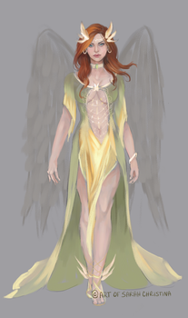 'Princess of Thanagar' - Hawkgirl Fashion Design by Forty-Fathoms