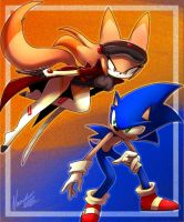 Tibleam and Sonic by nancher