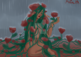 Blooming in the rain by MyLittleCutieCat