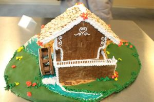 Gingerbread Cuckoo Clock (back view) by recycledrapunzel