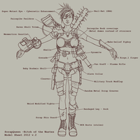 Bitch of the Wastes - Model Sheet by CamBoy