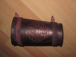 Celtic bracer dual-strapped by akinra-workshop