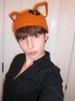 Kyo Cat Crochet Hat by RainKitty18
