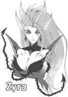 LOL random 03 - Zyra by tonnelee