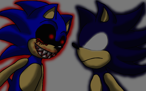 Sonic EXE AND Dark Sonic by xXMulti-Bunny-ChanXx