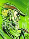 Green Arrow sketch card haun by JohnHaunLE