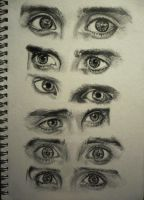 Eye study by StupidestUsernameEve