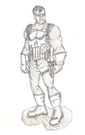 Punisher sketch by chaosking48