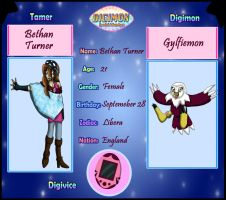 App. Digimon Special Adv. : Bethan and Gylfiemon by Bethessa
