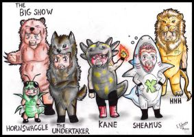 Wwe Furries by FuriarossaAndMimma