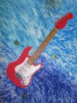Red Stratocaster by Rotemavid