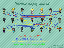 Homestuck Shipping Meme: My ships ewe by WolfTwine