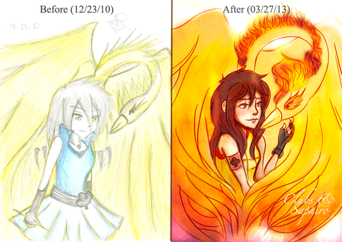 Before and After: Clubs and Saphiro by justixoxo