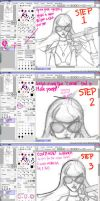 How to make Line-Art in SAI by HotCandyDeath