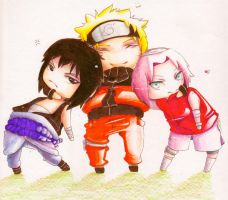 .Team 7 Chibi Love. by BlissfulGold