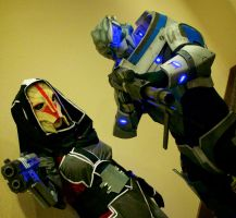 Turians - Mass Effect Cosplay by Cory-Hate