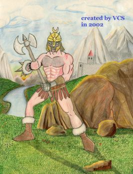 Barbarian Comic Figure by Niemantiker