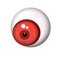 Red Gloss Eyeball by PaRaLaX-ArT