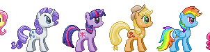 Mane 6 Sprite Collection by Viral-Code
