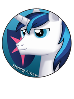 Shining Armor Pin by BrittanysDesigns