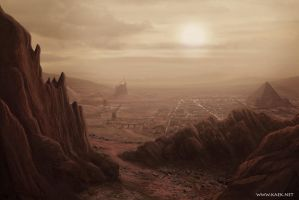 Valles Marineris, Mars by Kaek