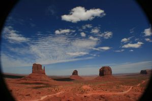 Fisheye view on Monument Valley by Dr-J-Zoidberg